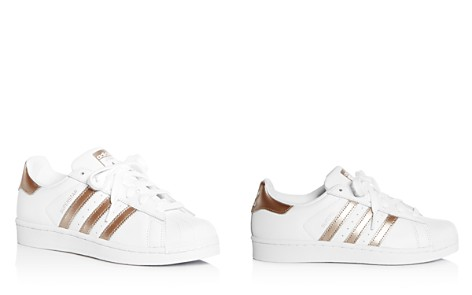 Adidas Women's Superstar Leather Lace Up Sneakers - Bloomingdale's_2