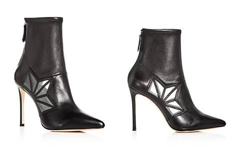 Pour La Victoire Women's Ceara Leather & Mesh Pointed Toe Booties - Bloomingdale's_2