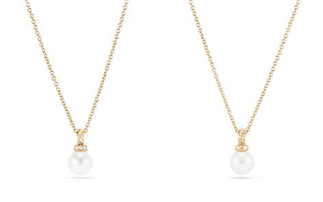 David Yurman Solari Pendant Necklace with Cultured Akoya Pearl & Diamonds in 18K Gold - Bloomingdale's_2