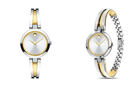 Movado Aleena Diamond Two-Tone Watch, 27mm - Bloomingdale's_2