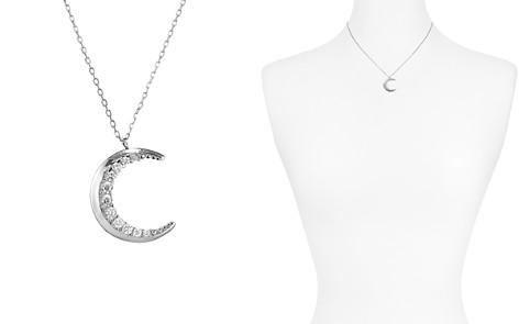 """AQUA Sterling Silver Moon Pendant Necklace, 16"""" - 100% Exclusive - Bloomingdale's_2"""