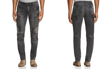 True Religion Rocco Moto Slim Fit Jeans in Black - Bloomingdale's_2