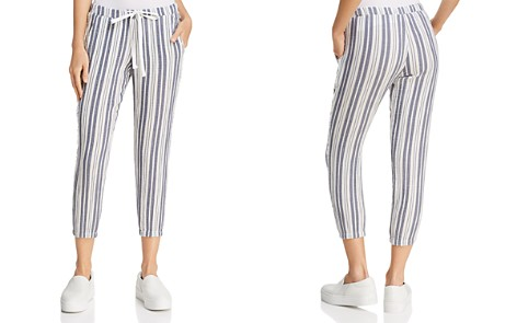 Bella Dahl Fringed-Side Striped Jogger Pants - Bloomingdale's_2