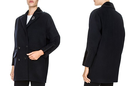 The Kooples Embroidered Peacoat - Bloomingdale's_2