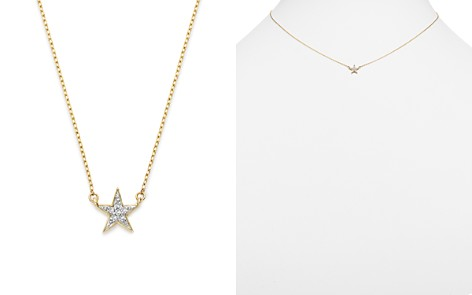 "Adina Reyter 14K Yellow Gold Pavé Diamond Star Necklace, 15"" - Bloomingdale's_2"