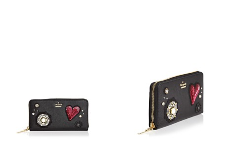 kate spade new york Lacey Embellished Leather Wallet - Bloomingdale's_2