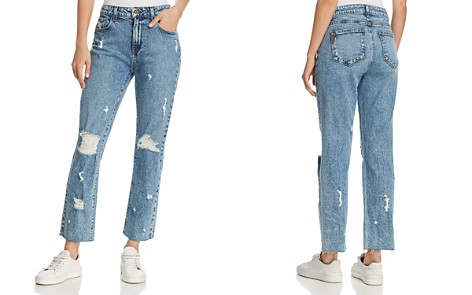 PAIGE Noella Straight-Leg Frayed-Hem Jeans in Westlyn Destructed - Bloomingdale's_2