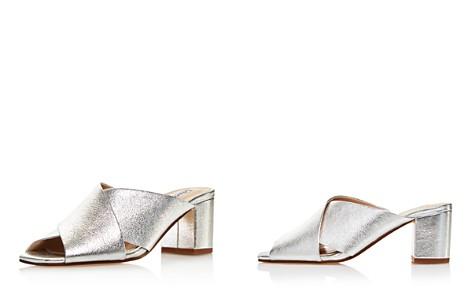 Charles David Women's Crissaly Leather Block Heel Slide Sandals - Bloomingdale's_2