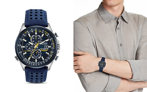 Citizen Blue Angels World Chrono A-T Watch, 43mm - Bloomingdale's_2