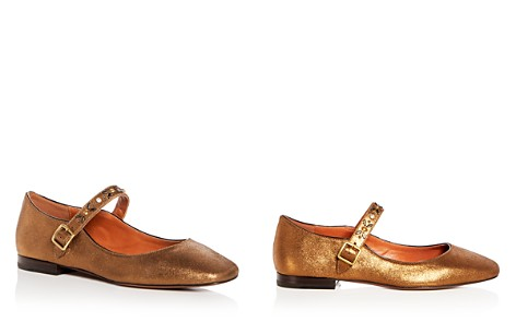 COACH Women's Embellished Suede Mary Jane Flats - Bloomingdale's_2