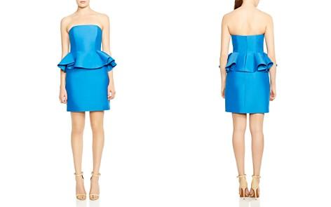 HALSTON HERITAGE Strapless Peplum Dress - Bloomingdale's_2