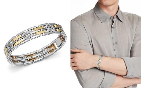 Bloomingdale's Diamond Men's Bracelet in 14K Yellow Gold & Sterling Silver, 0.50 ct. t.w. - 100% Exclusive _2
