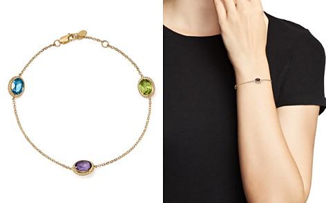 Bloomingdale's Multi Gemstone Oval Station Bracelet in 14K Yellow Gold - 100% Exclusive _2