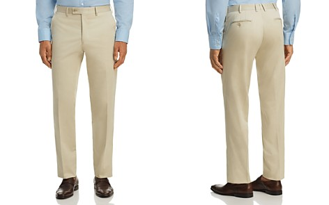 The Men's Store at Bloomingdale's Classic Fit Stretch Cotton Dress Pants - 100% Exclusive _2