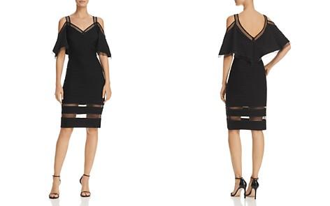 Tadashi Shoji Cold-Shoulder Pintuck Dress - Bloomingdale's_2
