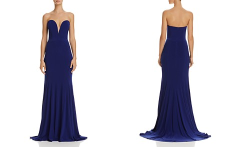 Avery G Strapless Plunging Gown - Bloomingdale's_2