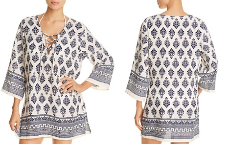J. Valdi Venetian Lace-Up Tunic Swim Cover-Up - Bloomingdale's_2