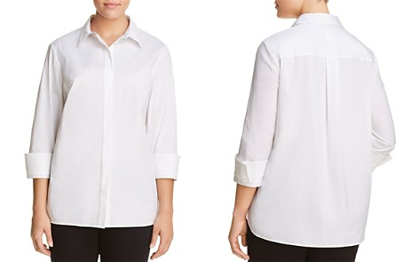 Lafayette 148 New York Plus Augusta Button-Down Blouse - Bloomingdale's_2