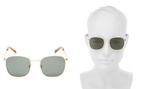Le Specs Neptune Polarized Square Sunglasses, 49mm - Bloomingdale's_2