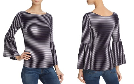 FRAME Striped Bell-Sleeve Top - Bloomingdale's_2