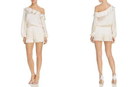 Karina Grimaldi Leslie Ruffled One-Shoulder Romper - Bloomingdale's_2