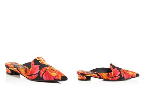 Salvatore Ferragamo Women's Floral-Print Pointed Toe Mules - Bloomingdale's_2