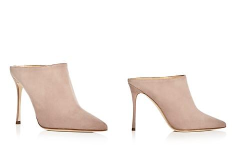 Sergio Rossi Women's Godiva Suede High-Heel Pointed Toe Mules - Bloomingdale's_2