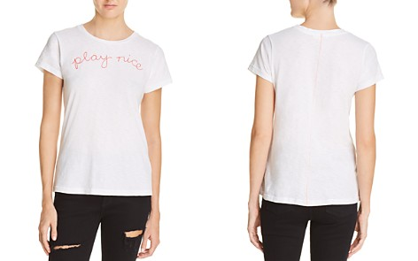 Sundry Play Nice Embroidered Tee - 100% Exclusive - Bloomingdale's_2