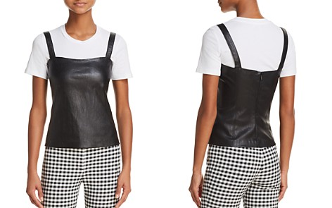 Theory Perfect Leather Camisole Top - Bloomingdale's_2