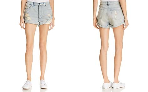 T by Alexander Wang Hike Cuffed Denim Shorts in Vintage Bleach - Bloomingdale's_2
