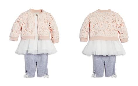 Miniclasix Girls' Lace Bomber Jacket, Tutu Top & Capri Leggings Set - Baby - Bloomingdale's_2