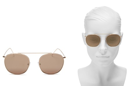 Illesteva Mykonos II Square Aviator Sunglasses, 53mm - Bloomingdale's_2