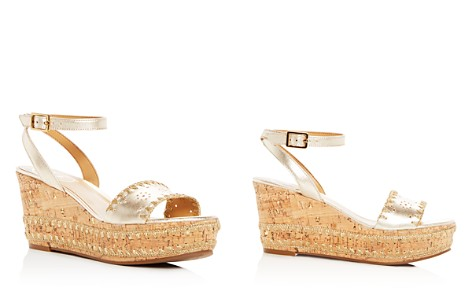 Jack Rogers Women's Lennon Leather & Cork Wedge Platform Sandals - Bloomingdale's_2