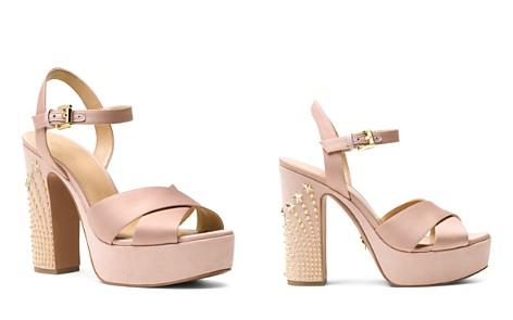 MICHAEL Michael Kors Women's Sia Studded Suede & Satin Platform Sandals - Bloomingdale's_2