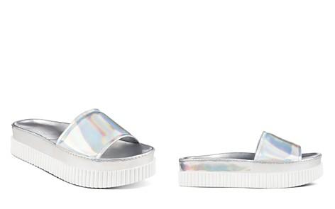 KENDALL and KYLIE Women's Isla Metallic Platform Slide Sandals - Bloomingdale's_2