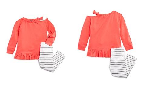 Splendid Girls' Distressed Long-Sleeve Tee & Striped Leggings Set - Little Kid - Bloomingdale's_2