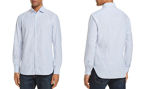 Eidos University Stripe Washed Regular Fit Button-Down Shirt - Bloomingdale's_2