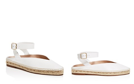 Stuart Weitzman Women's Toga Leather Espadrille Ankle Strap Flats - Bloomingdale's_2