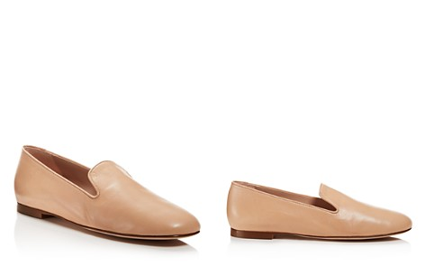 Stuart Weitzman Women's Myguy Leather Smoking Slippers - Bloomingdale's_2