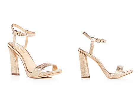 Imagine VINCE CAMUTO Women's Sune Distressed Metallic High Heel Sandals - Bloomingdale's_2