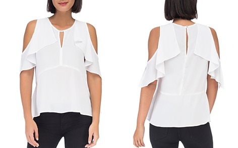 B Collection by Bobeau Pamela Cold-Shoulder Ruffle Top - Bloomingdale's_2