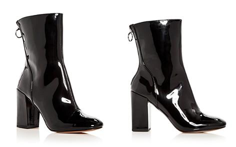 Avec Les Filles Women's Raina Patent Leather High Block Heel Booties - Bloomingdale's_2