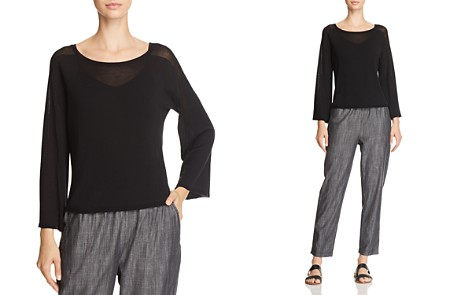 Eileen Fisher Lightweight Boat-Neck Sweater - Bloomingdale's_2