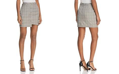 JOA Asymmetric Plaid Skirt - Bloomingdale's_2