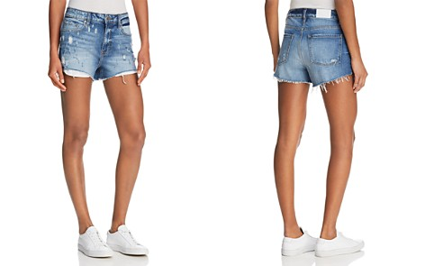 Pistola Winston Distressed Cutoff Denim Shorts in Disorderly - Bloomingdale's_2