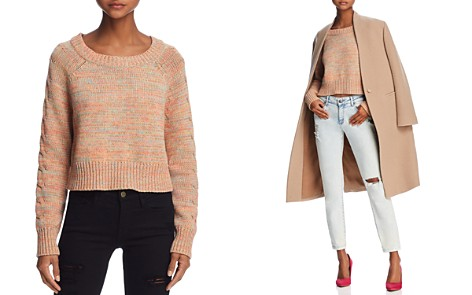 Honey Punch Cable-Sleeve Cropped Sweater - Bloomingdale's_2