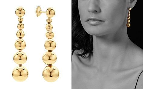 LAGOS Caviar Gold Collection 18K Gold Graduated Seven Bead Drop Earrings - Bloomingdale's_2