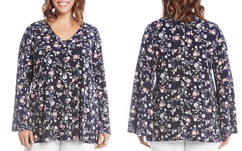 Karen Kane Plus Floral-Print Bell-Sleeve Top - Bloomingdale's_2