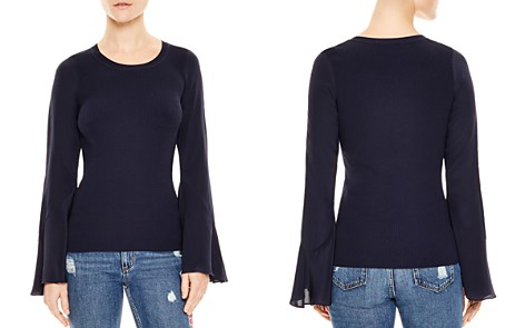 Sandro Ruddy Silk-Sleeve Sweater - Bloomingdale's_2