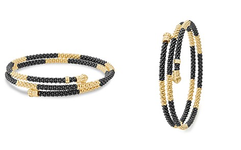 LAGOS Gold & Black Caviar Collection 18K Gold & Ceramic Coil Bracelet - Bloomingdale's_2